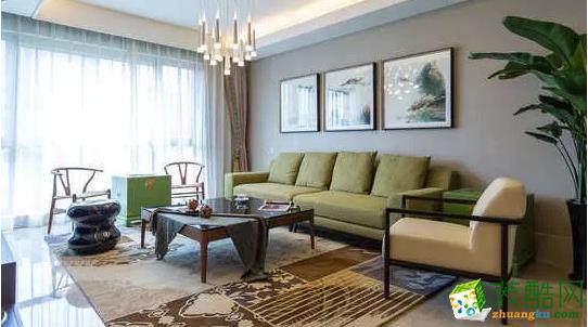 【楚东装饰】金岸名都中式风格装修案列_中式风格-四室两厅两卫