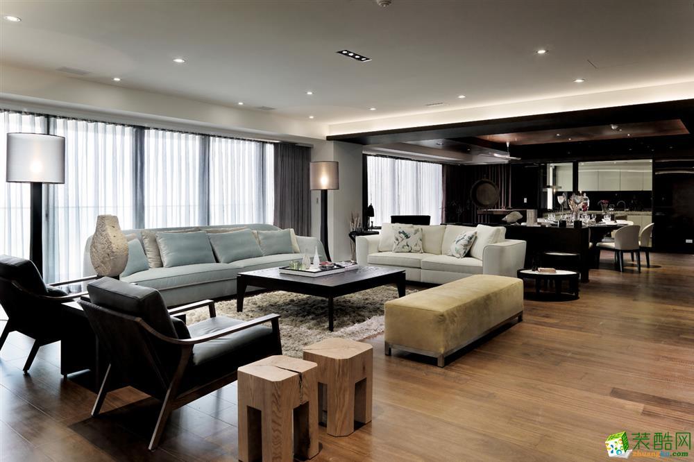 苏州130�O三室两厅装修―山湖湾现代简约风格设计作品