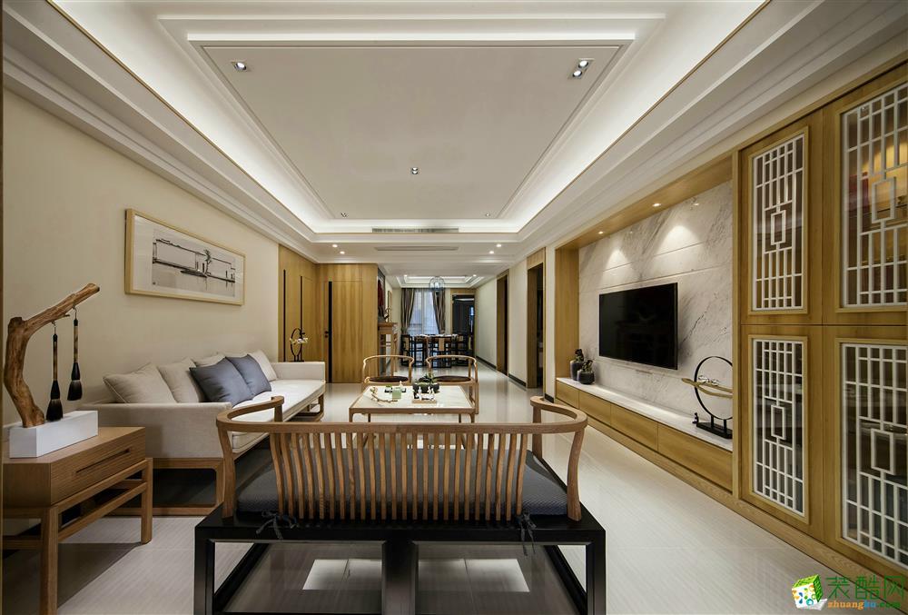 合肥121方两室两厅装修—章龙装饰 新中式风格设计作品