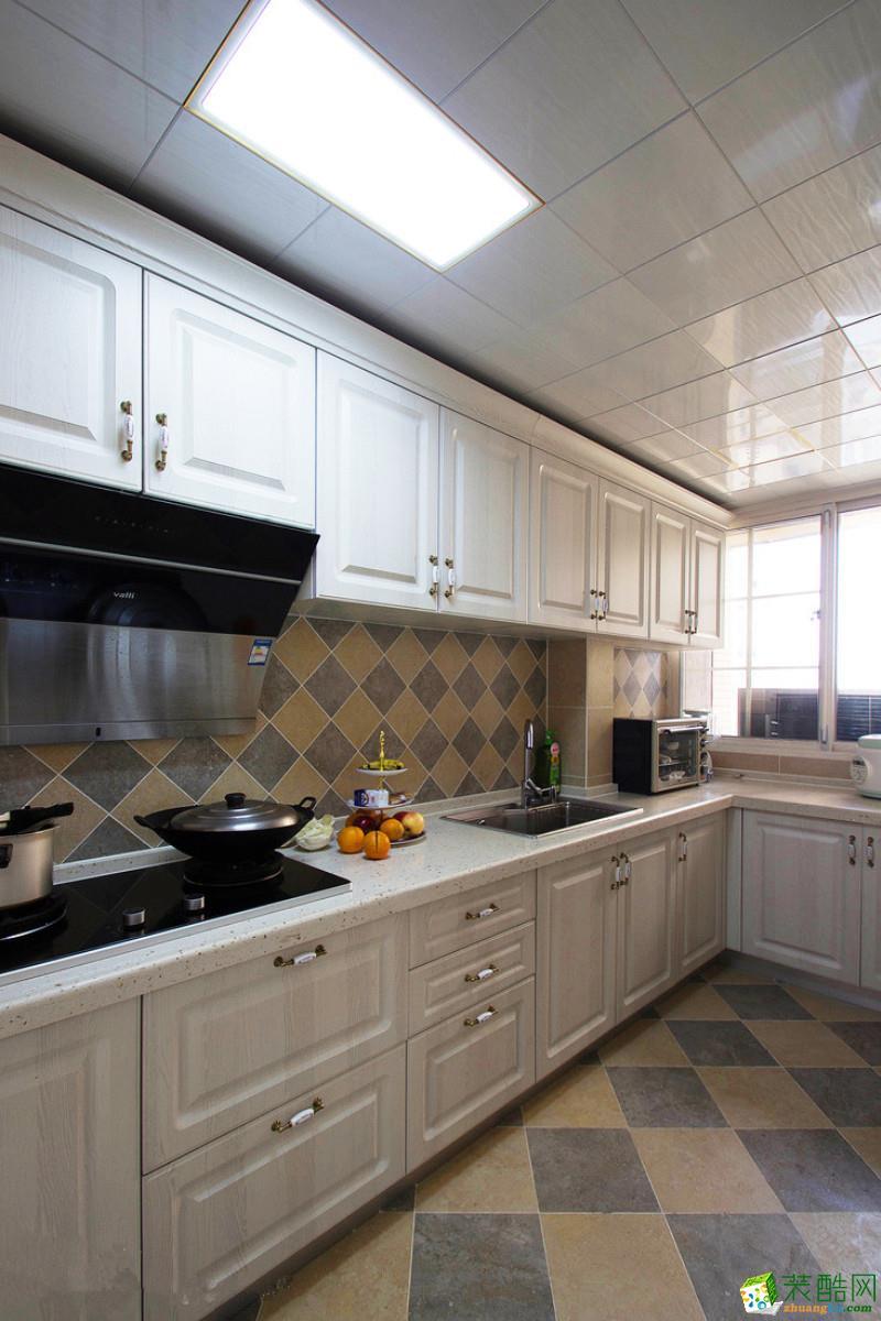 苏州120平米三室两厅装修―尼盛滨江城简美风格设计作品