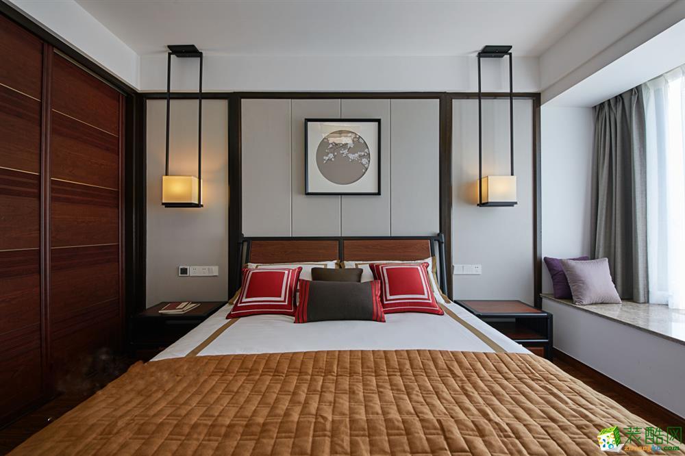 >> 苏州104平米三室一厅装修—圣都装饰新中式风格设计作品