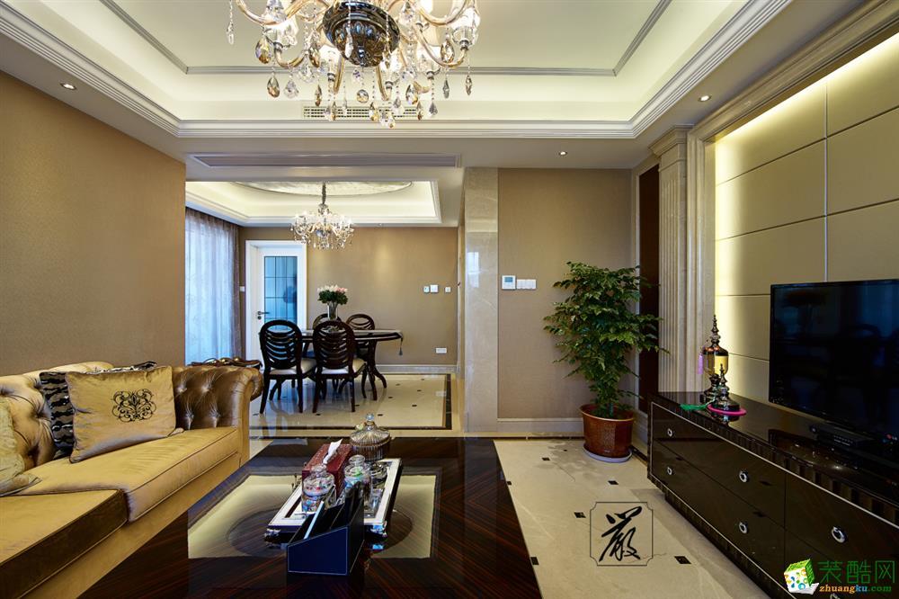苏州130方三室两厅装修―圣都装饰大气豪华欧式风格作品