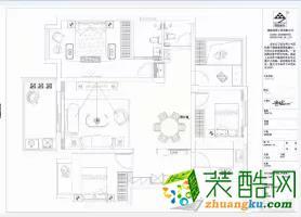 合肥110平米三室两厅装修―皖投天下名筑简约风格装修设计作品