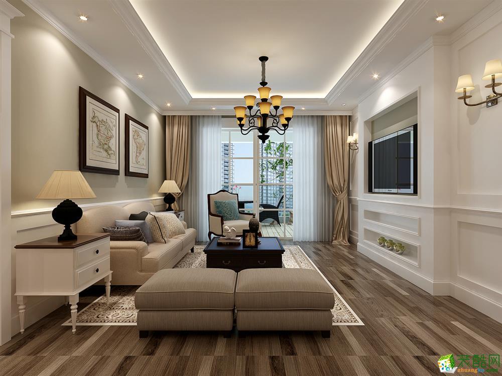 西安百合居装饰-120平米美式三居室装修案例