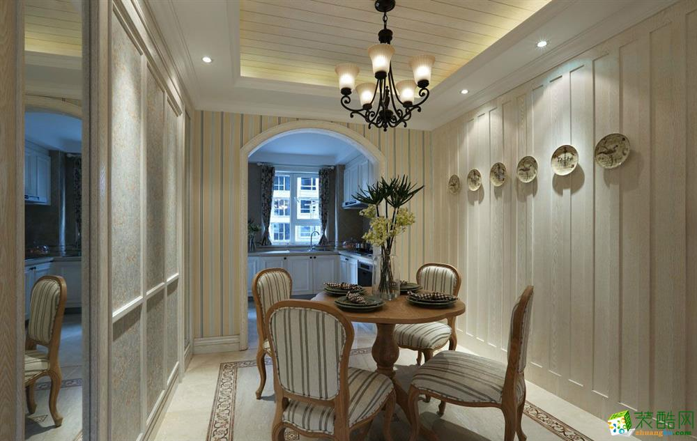 西安百合居装饰-130平米美式三居室装修案例