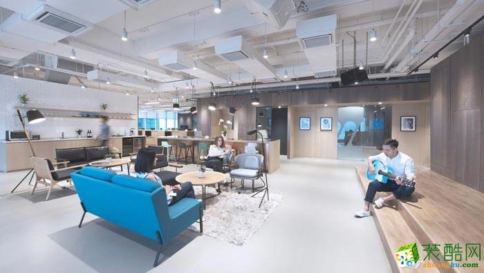 合肥650平米音樂傳媒公司辦公室裝修—簡約風格設計作品