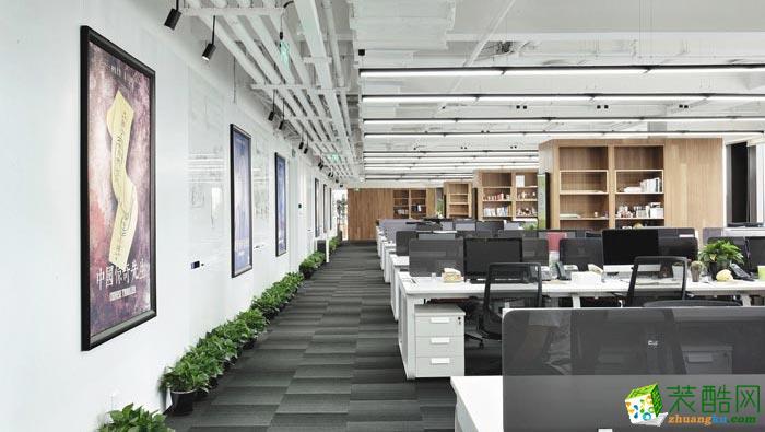 合肥800平米影視傳媒公司辦公室裝修—簡約風格設計作品