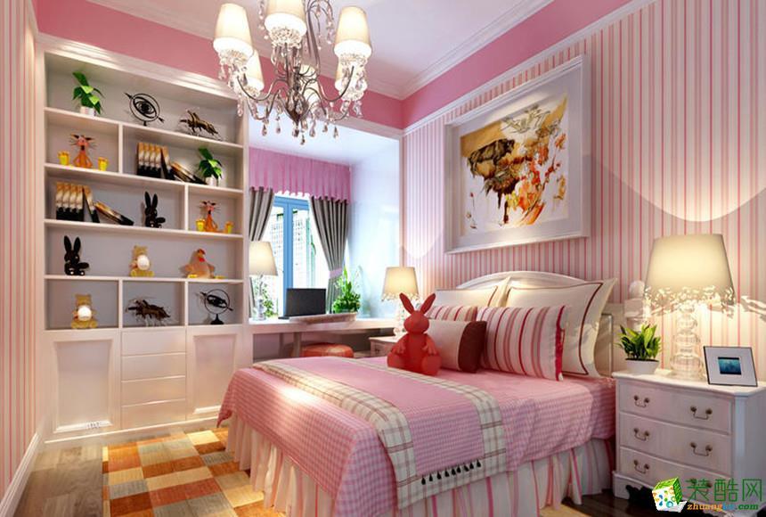 阜阳美家美户装饰-115平米现代简约三居室装修案例