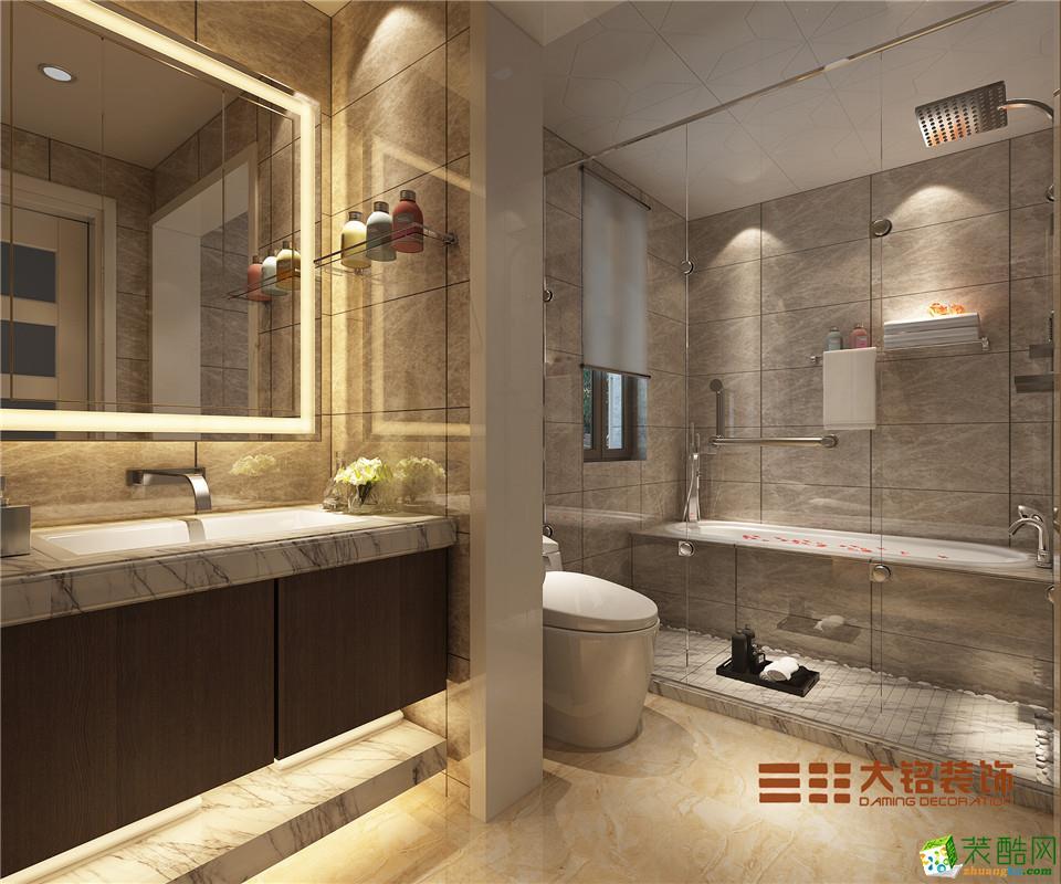 【大铭装饰】泰宏建业国际城120平方现代简约风格装修效果图