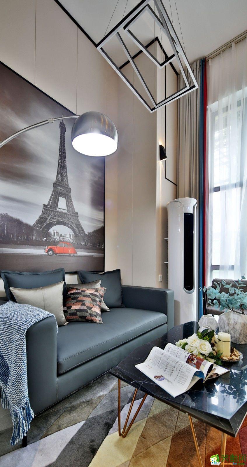 重慶55平米裝修--佳天下裝飾招商錦星匯兩室一廳裝修 現代簡約風格裝修案例效果圖