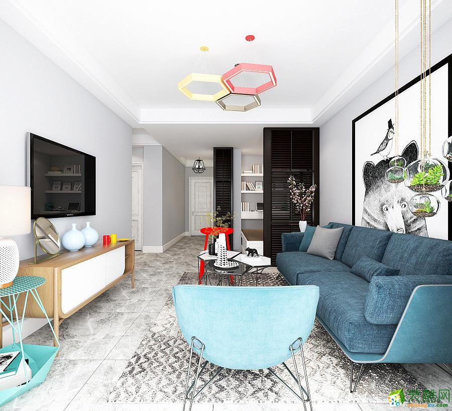 十堰60平米两室一厅装修—现代风格设计作品