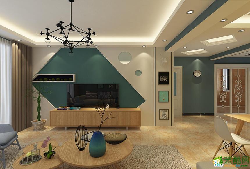 长沙随意居装饰-105平米现代简约三居室装修案例
