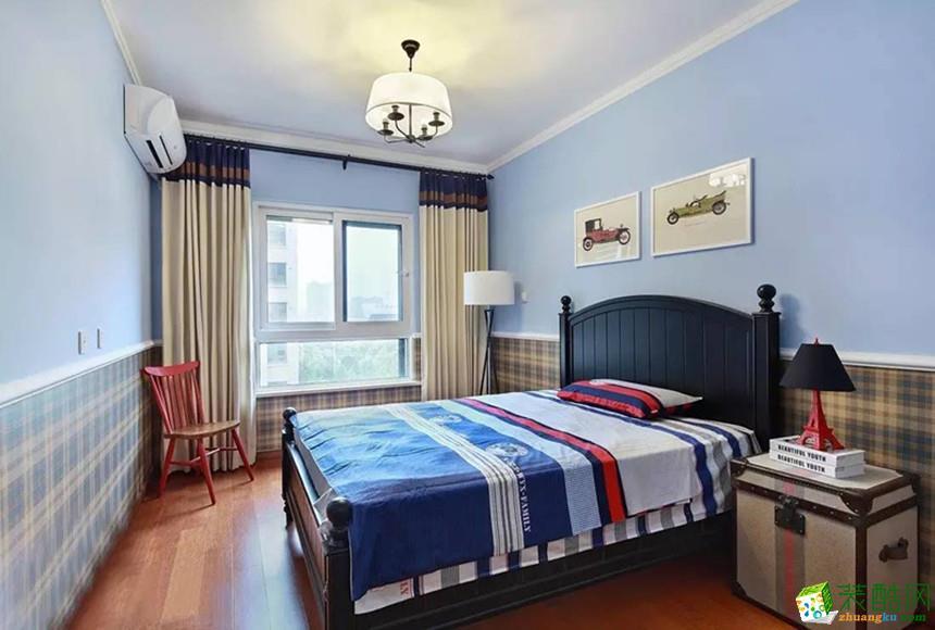长沙名匠装饰-80平米美式两居室装修案例