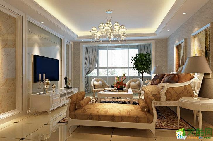 广州133平米装修--生活家装饰 简欧风格三室两厅装修案例效果图