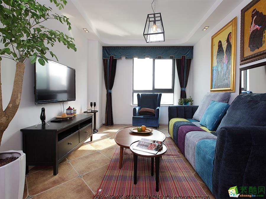 〖宜之美〗珠峰国际花园93平米两室两厅一卫装修