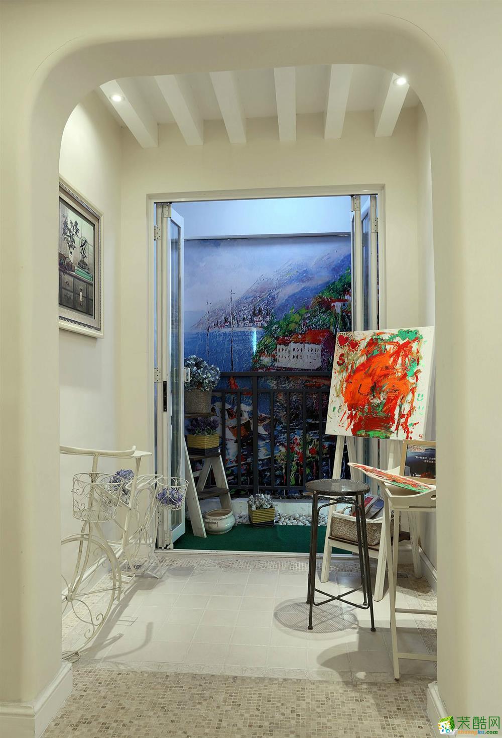 阜阳欣豪装饰-120平米美式乡村三居室装修案例