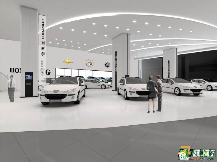 西安汽车4s店装修设计图_中式车行_装酷网装修效果图