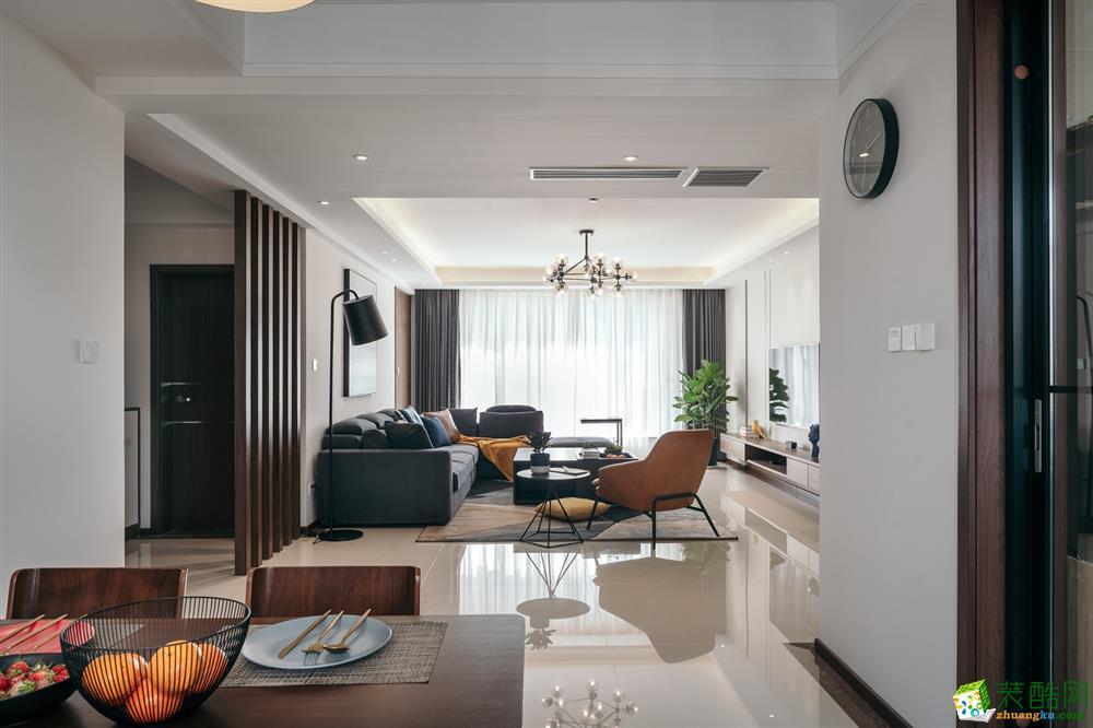 绵阳110�O三室两厅装修―城南一号现代简约风格作品