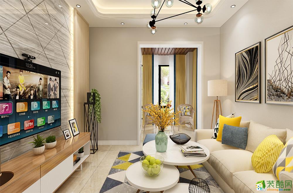 绵阳88�O三室一厅装修―海赋长兴北欧风格设计作品