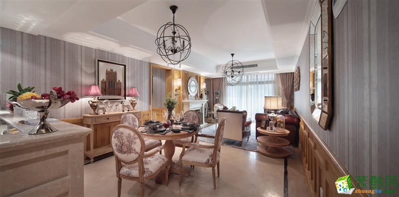 绵阳125�O三室两厅装修―东源长岛欧式风格设计作品