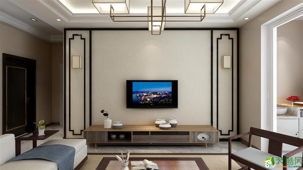 >> 【艺合装饰】迪亚上郡100平方新中式风格装修效果图