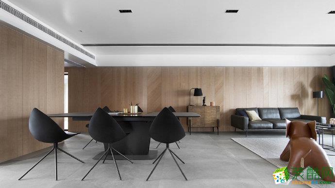 十堰160平米三室两厅装修―恒大城现代风格作品