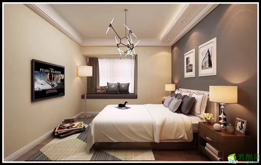 衡阳金空间装饰-90平米现代简约两居室装修案例