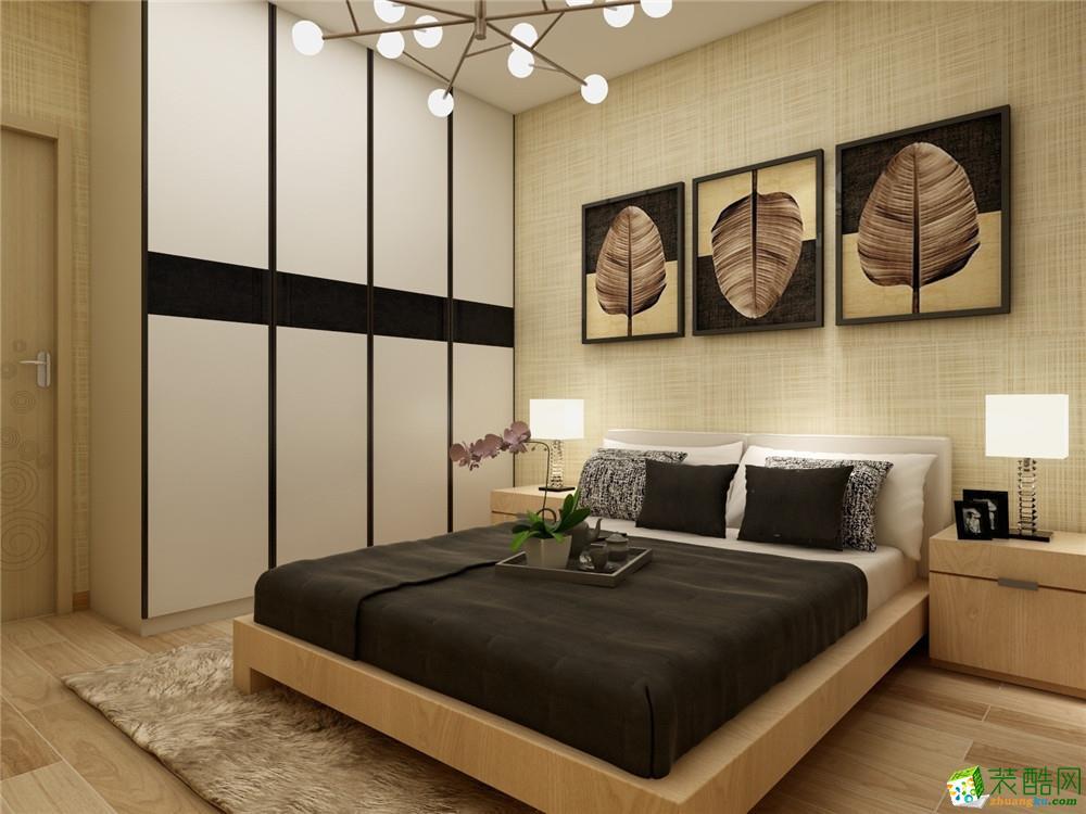 >> 天津三室一厅装修—社会山93㎡简约风格设计效果图图片