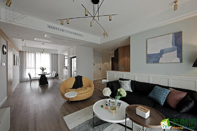 重庆100平 两室两厅装修 中昂嘉御湾北欧风格装修案例 --佳天下装饰
