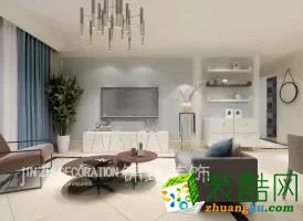 合肥三室两厅装修―当代未来城122平米简约风格设计作品