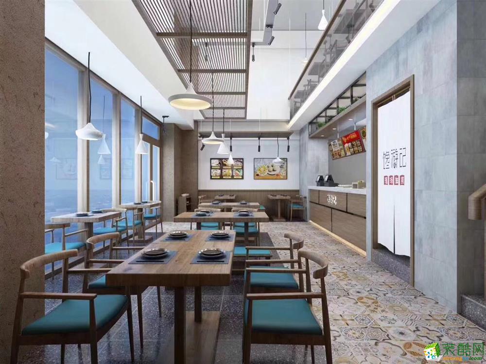 合肥餐飲店面裝修—饞游記總部140平米店面裝修設計效果圖