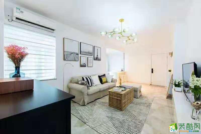 武汉90�O两室一厅装修―国博新城北欧风格设计作品