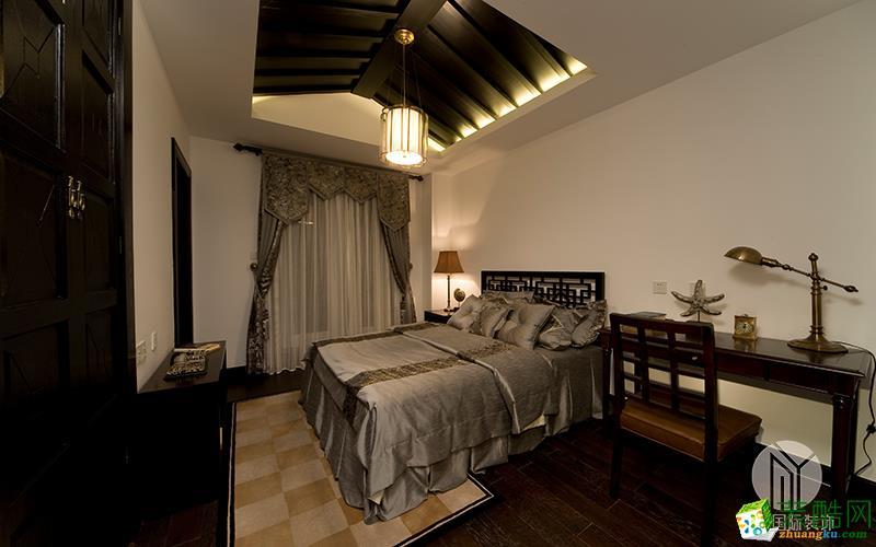 沐易装饰--花样年华郡100平3房中式风格案例效果图