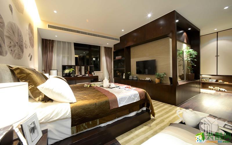 沐易装饰--长岛花园110平3房中式风格案例效果图