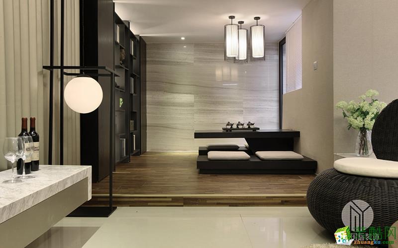 沐易装饰--卡纳湖谷220平别墅中式风格案例效果图