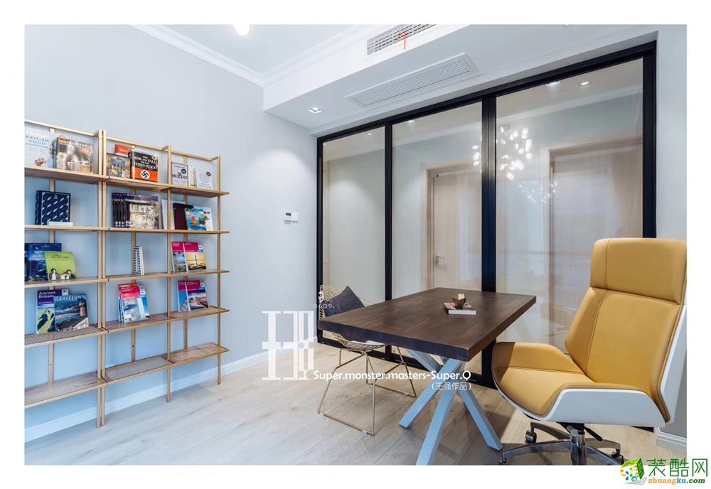成都120平三室两厅装修 中粮锦云现代轻奢风格装修案例赏析 --朗润装饰