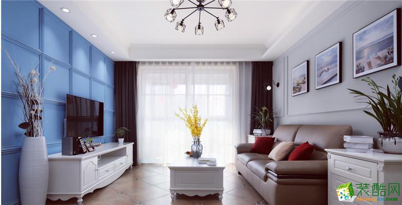 合肥90�O两室一厅装修―保利西梧桐语美式风格设计作品