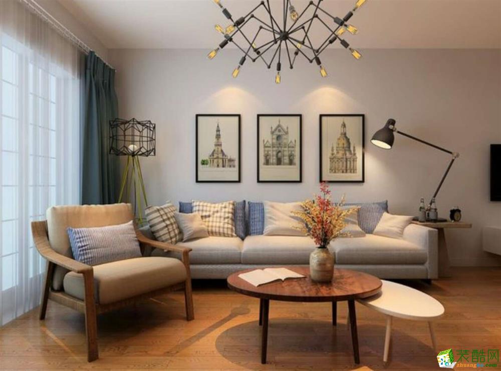 合肥87�O两室一厅装修―百商悦澜山简约风格设计作品