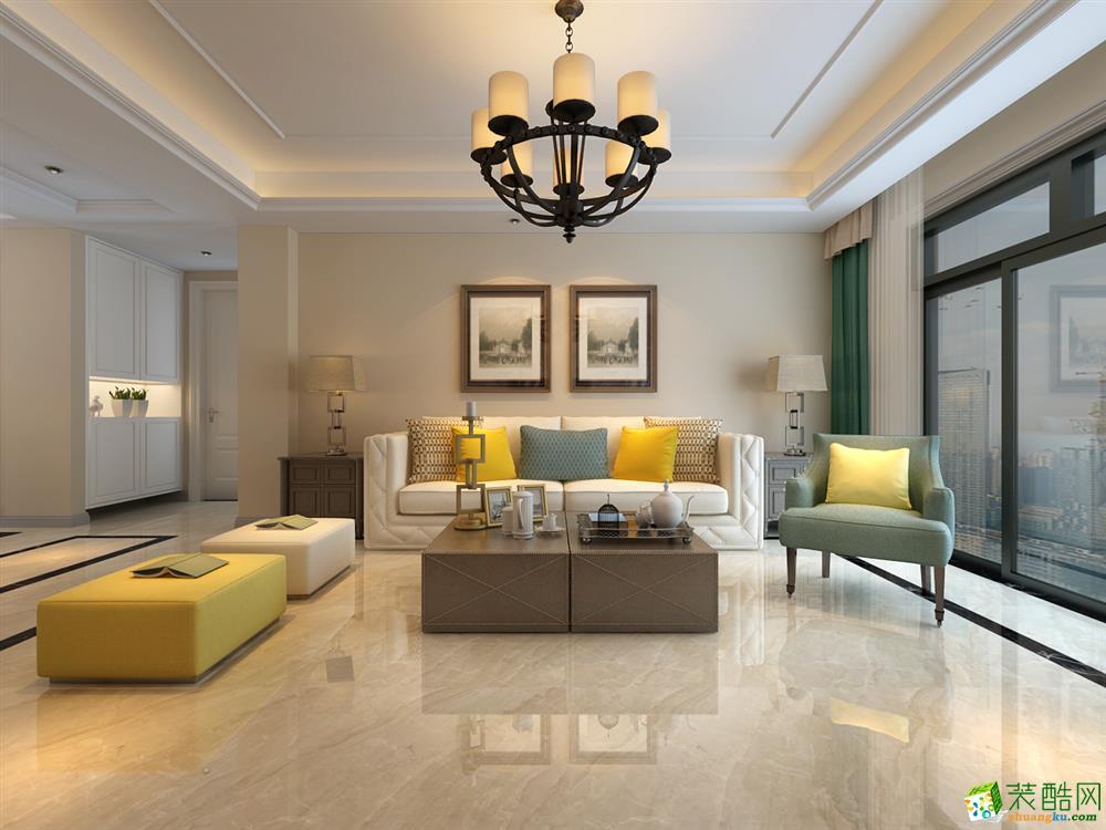 合肥130�O三室两厅装修―【方林装饰】华润桃园里美式风格作品