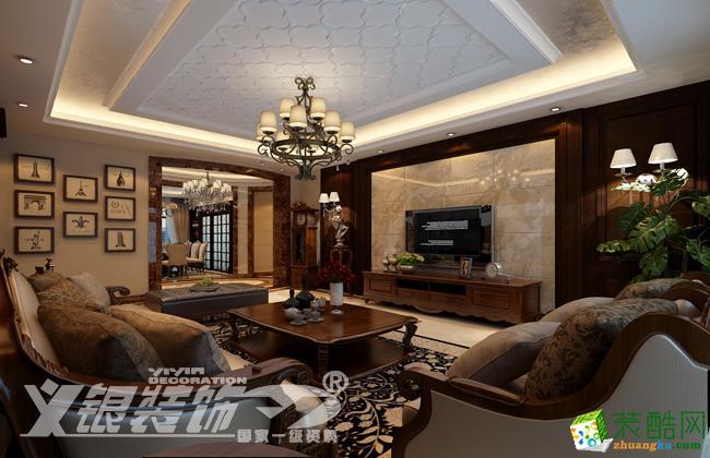 合肥170�O四室两厅装修―柏悦公馆170平简欧风格设计作品