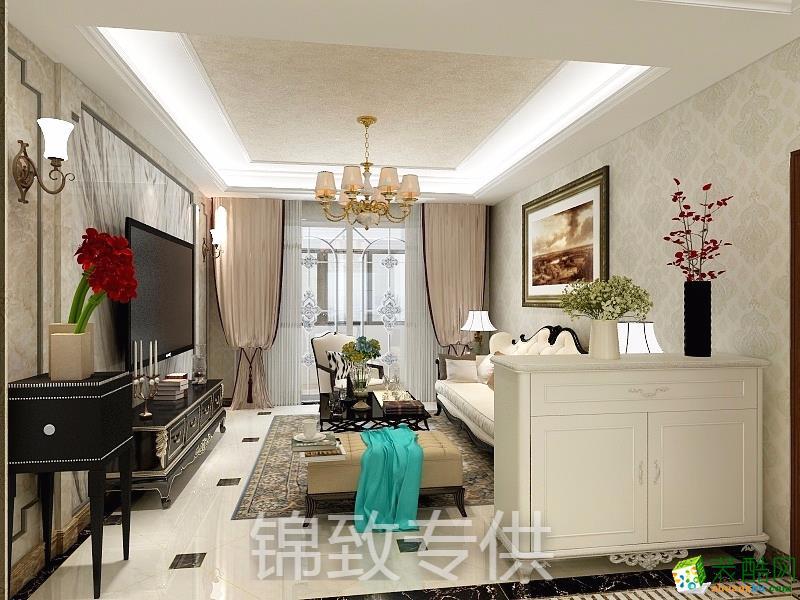 合肥85�O两室两厅装修―朗香书院新中式风格设计作品