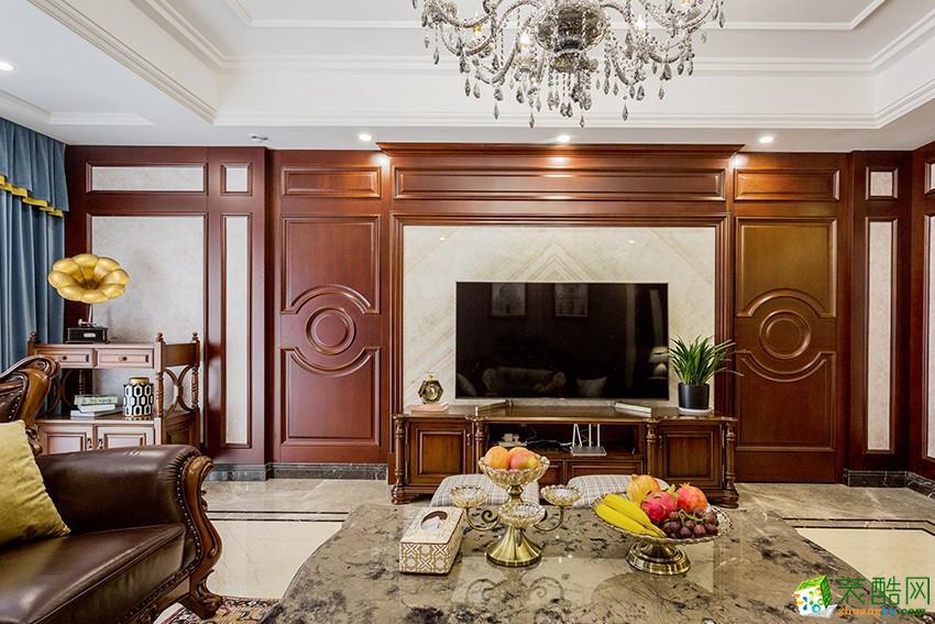 杭州160�O三室两厅装修【九鼎装修】欧式风格设计作品