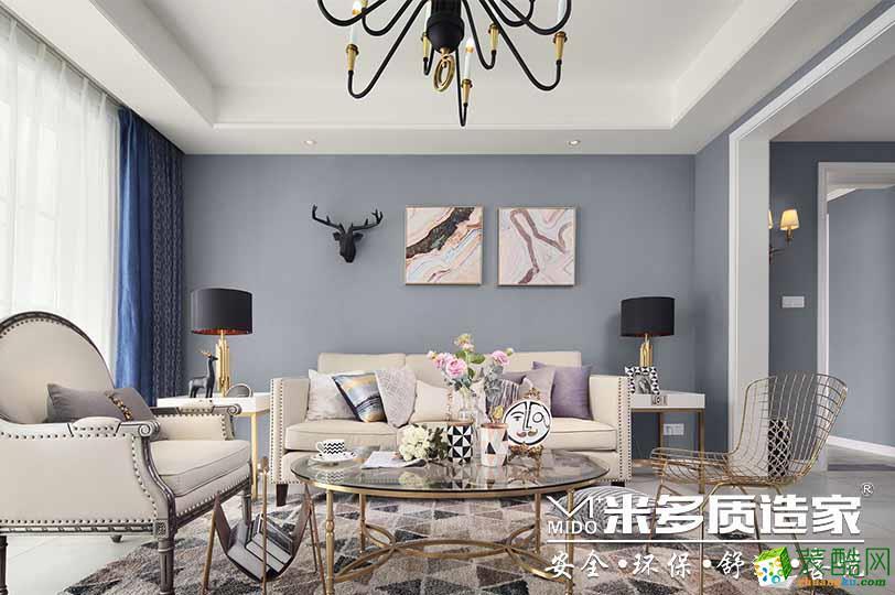 弘阳广场149平美式风格装修效果图