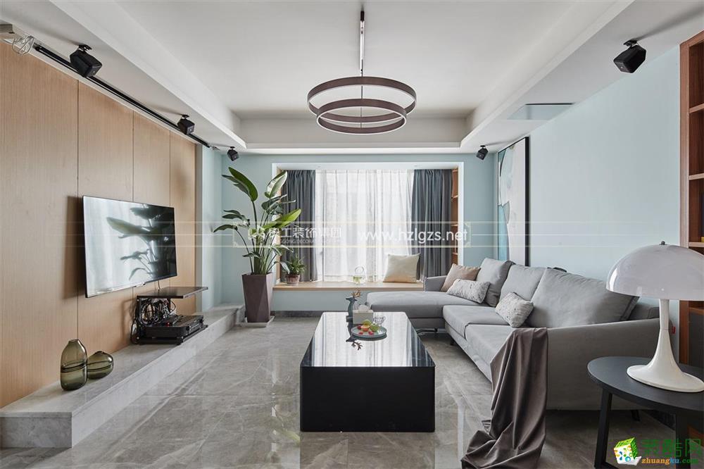 杭州125方三室两厅装修(良工装饰)西溪璞园现代风格设计作品