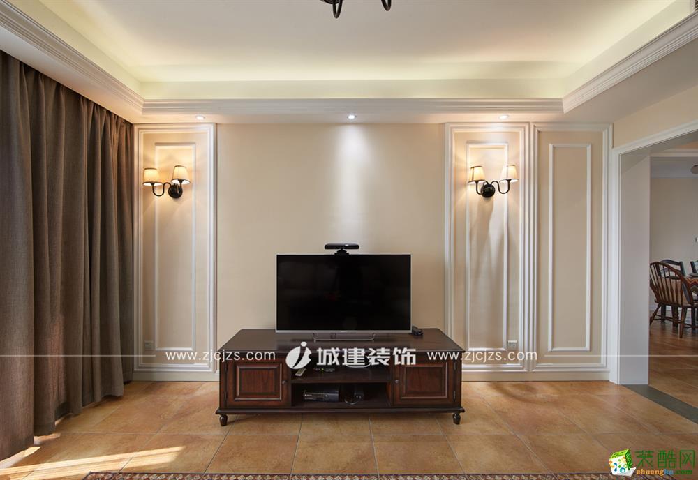 杭州135�O三室两厅装修―翡翠城混搭风格设计作品