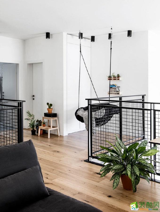 138平三居室现代风格装修效果图