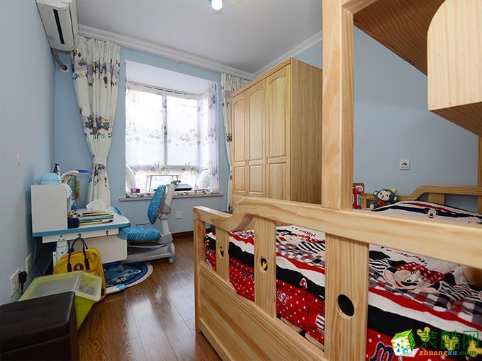 80平二居室混搭风格装修效果图