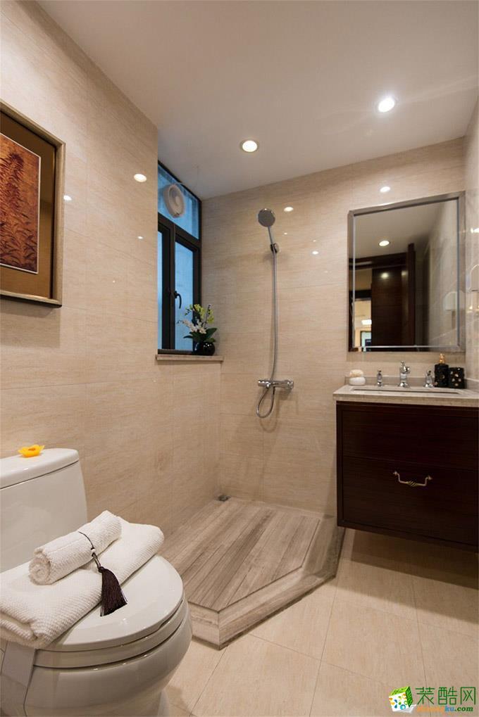125平米三居室中式风格装修效果图