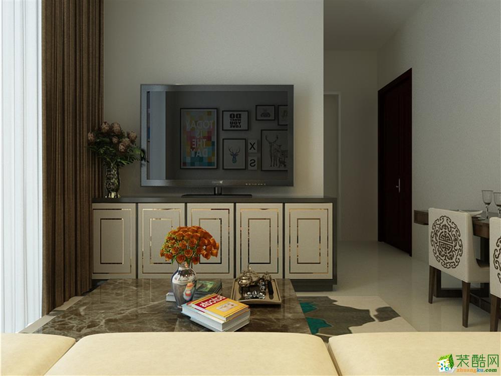 >> 天津74平米两室一厅装修—【力天装饰】时光里现代简约风格作品