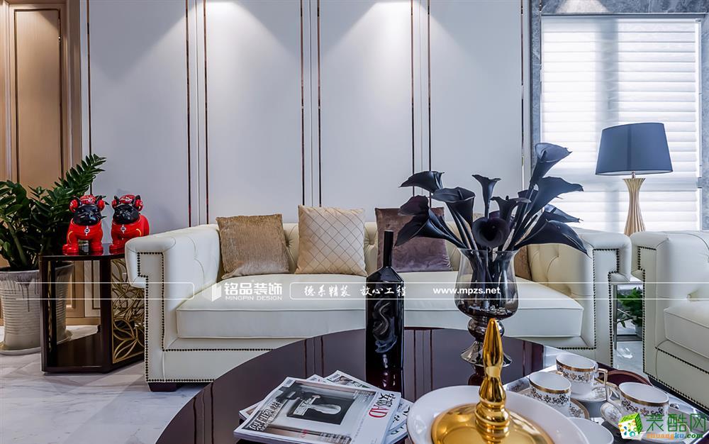 富阳三室两厅装修―山水美庐127�O美式风格设计作品